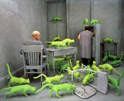 Green cats