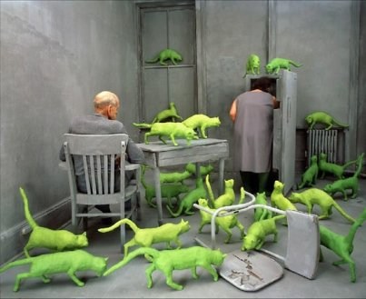 Green cats