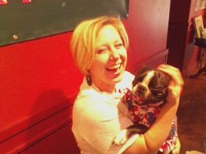 Me and dog celeb, Roxy, at Red Brick's Dog Days!